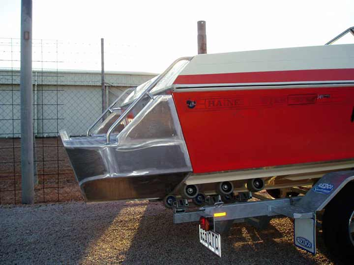 Boat with back step