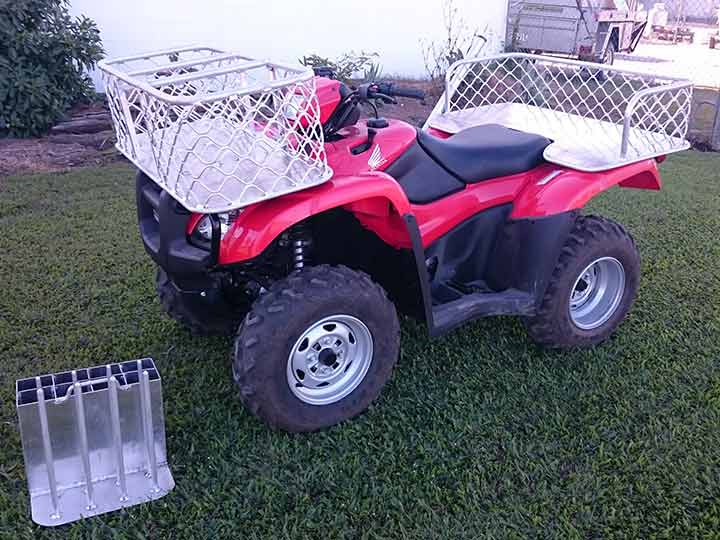 Quad bike with fittings