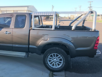 Ute with roll cage
