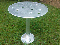 Welded table