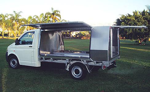 Truck with 3 door canopy