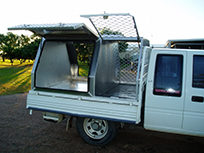 Work ute with sections