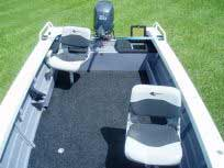Seating in back of boat