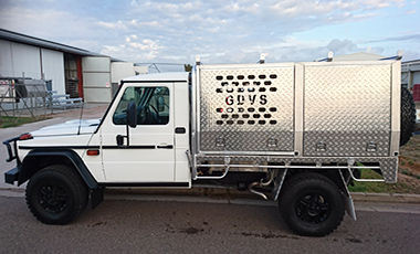 Mercedes truck with custom built canopy & BT Alloy Welding aluminium and stainless steel fabrication projects