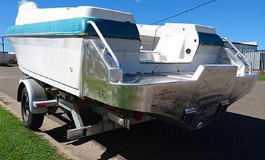 Custom built boat pod for Haines