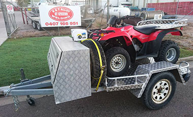 Custom built quad trailer