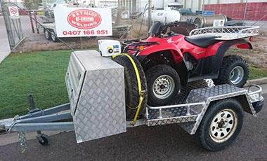 Custom built quad trailer