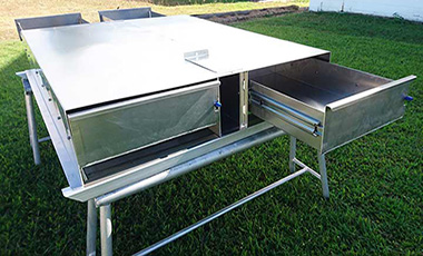 Tray with drawers by BT Alloy