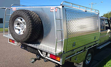 Side ladders for easy access to top by BT Alloy