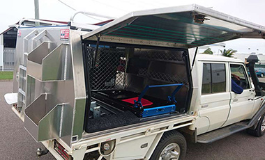 A place for everything in this custom made canopy