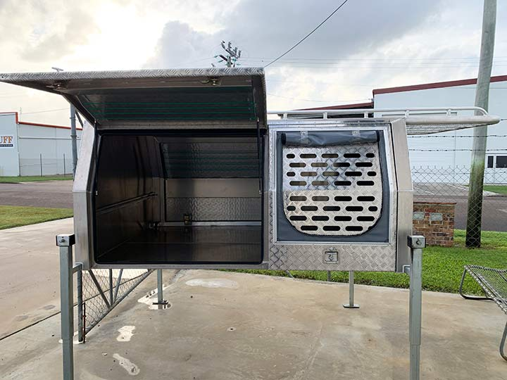 Opened custom designed canopy by BT Alloy