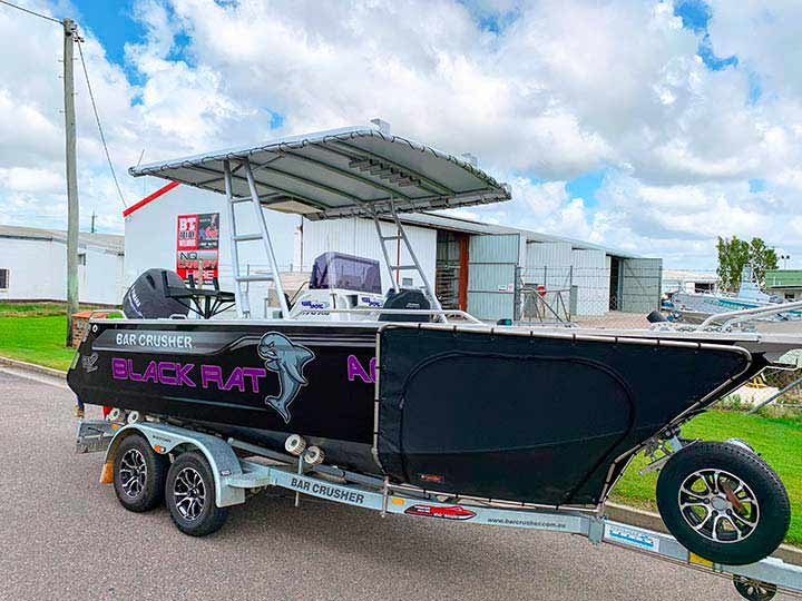New boat canopy by BT Alloy