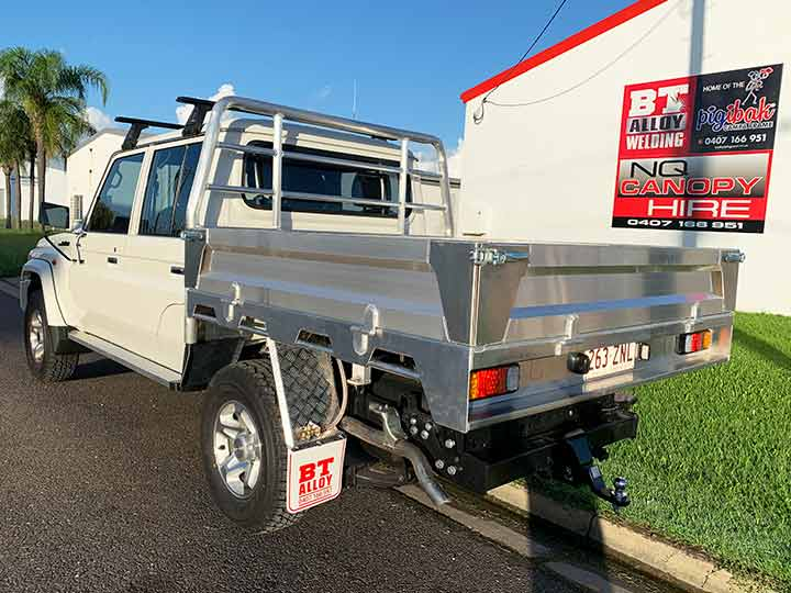 Custom designed ute canopy by BT Alloy