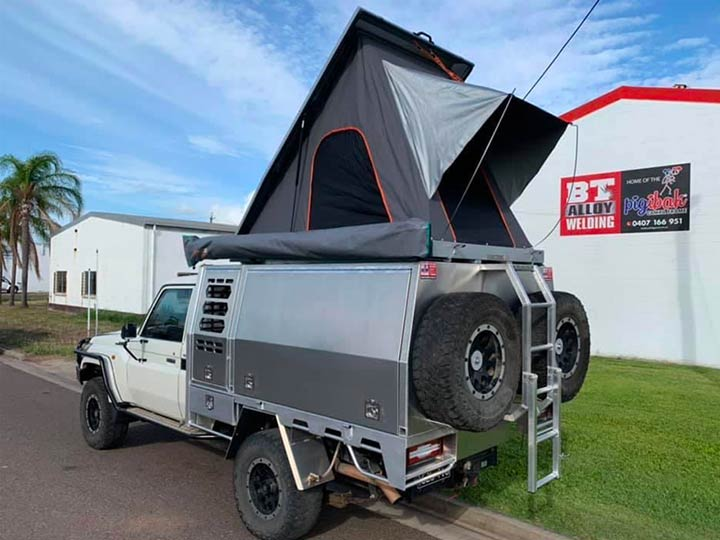 Ute Canopy with tent by BT ALLOY